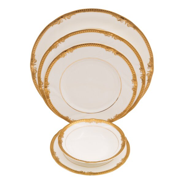 Ivy Bone China 20 Piece Dinnerware Set, Service for 4 by Shinepukur Ceramics USA, Inc.
