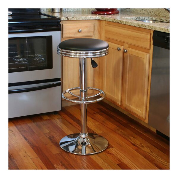 Zariah Adjustable Height Swivel Bar Stool by Ebern Designs
