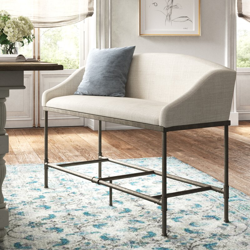 Bastion Upholstered Bench - you're going to love these furniture and decor pieces Kelly curated for Wayfair! #furniture #frenchcountry #kellyclarksonhome #benches #kitchendesign #kitchendecor