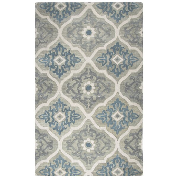 Venedy Hand-Tufted Wool Blue/Gray Area Rug by Darby Home Co