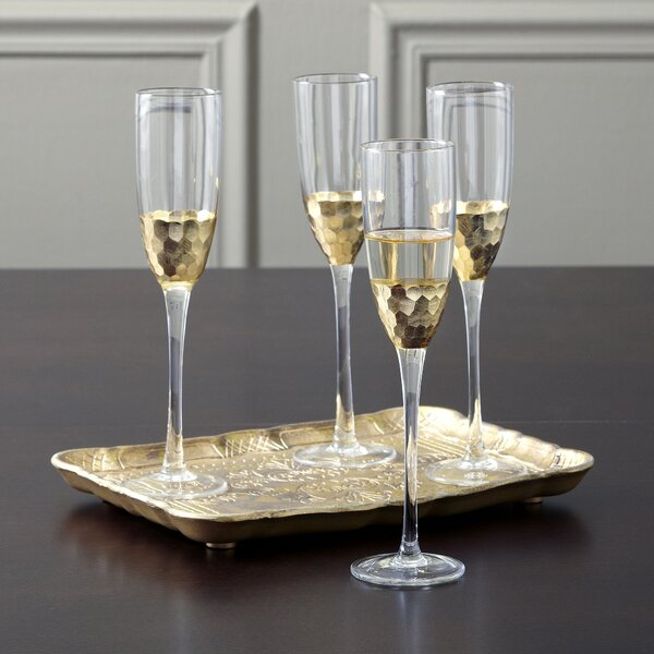 Chauncey Champagne Flutes (Set of 4) by Birch Lane