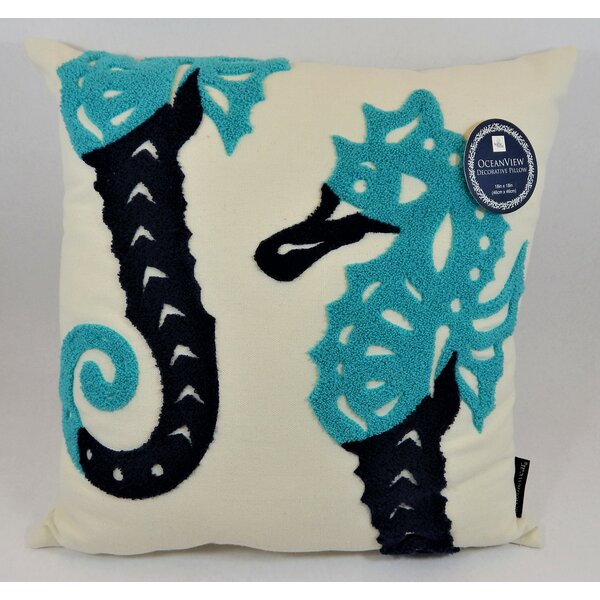 Paisley Seahorse Play Throw Pillow by Highland Dunes