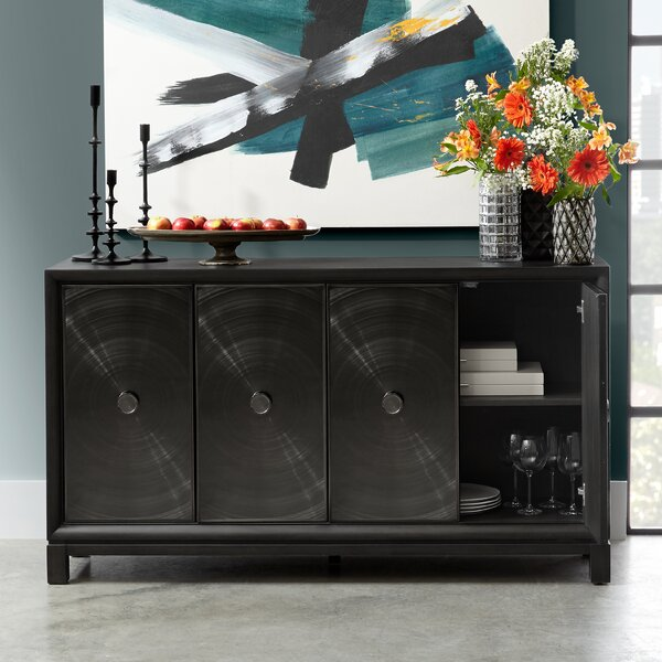 Reichel Four Door Spun Metal Credenza by Darby Home Co Darby Home Co