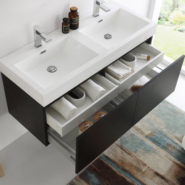 Mezzo 47 Wall-Mounted Double Bathroom Vanity Set