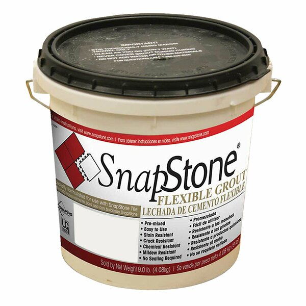 Urethane Flexible Grout 9 Lb Pail In Antique White by SnapStone