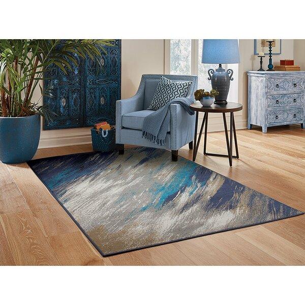 Yablonski Gray Indoor/Outdoor Area Rug by Ebern Designs