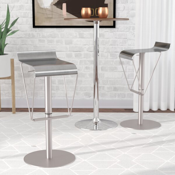 Dupont Adjustable Height Swivel Bar Stool by Wade Logan