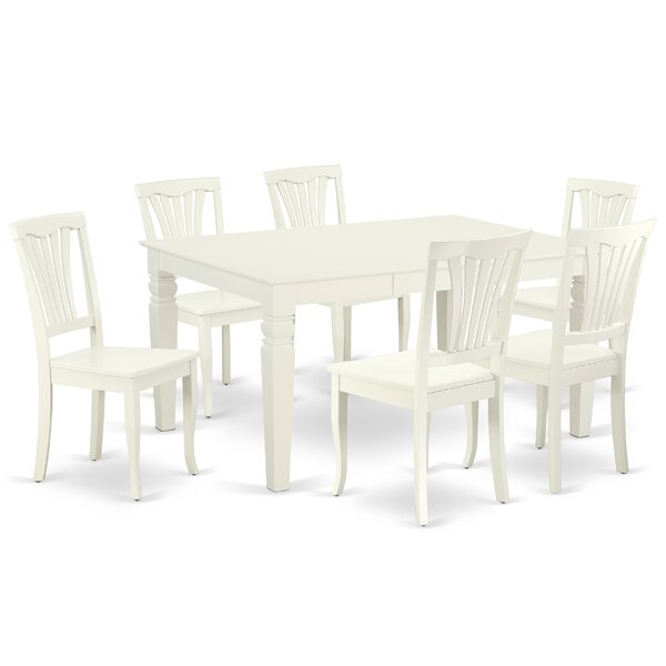 Kujawski 7 Piece Extendable Solid Wood Dining Set by August Grove