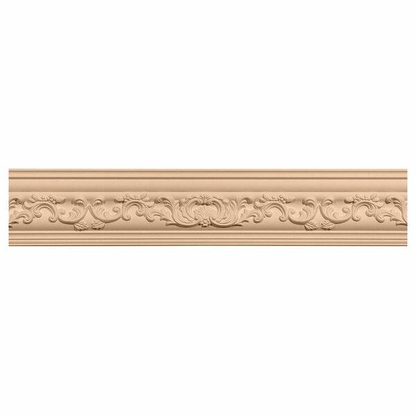 Medway 3 1/2H x 96W x 3 5/8D Carved Wood Crown Moulding by Ekena Millwork
