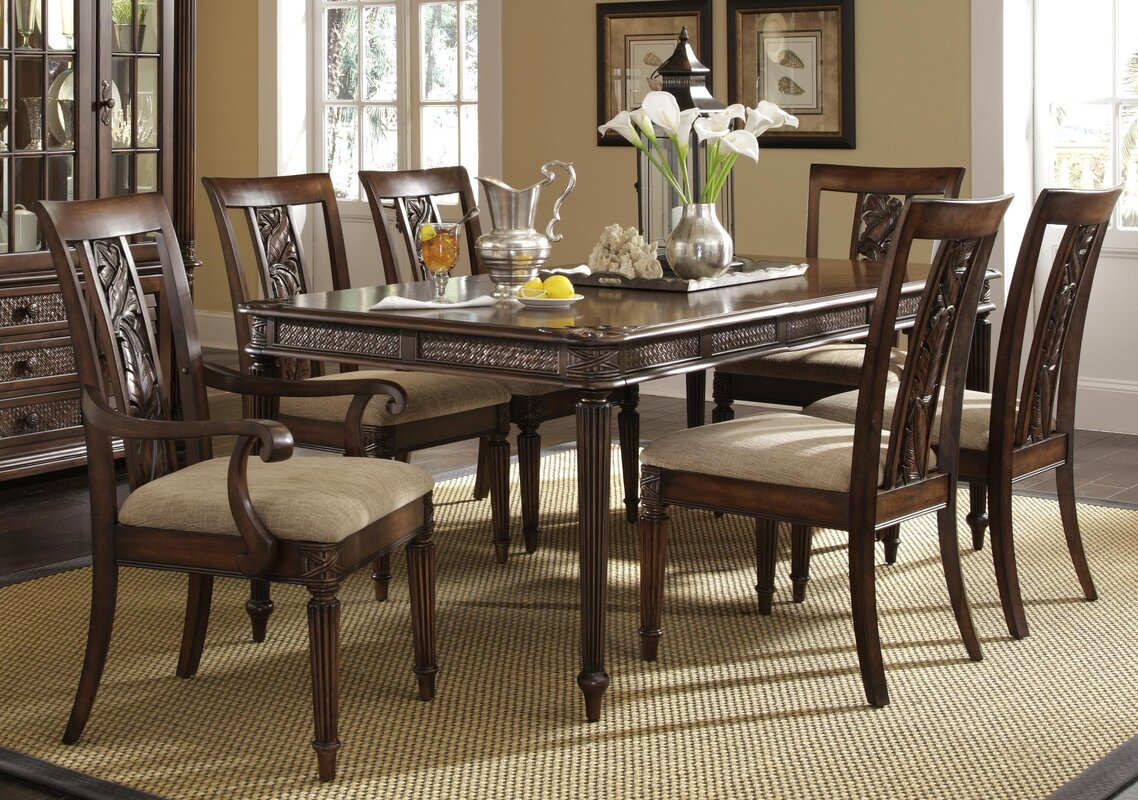 Extending Dining Room Table Darby Home Co Palm Court Ii Extendable Dining Table  Wayfair