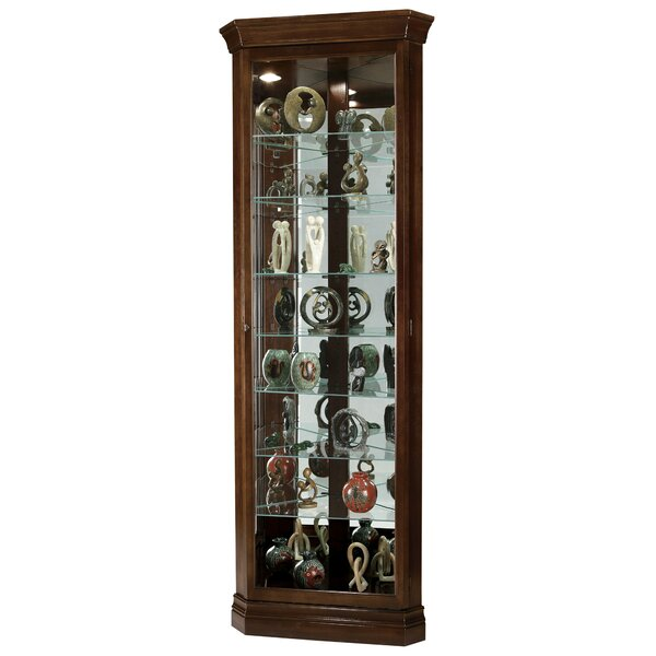 Pranav Corner Curio Cabinet by Darby Home Co Darby Home Co