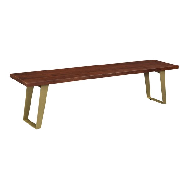 Yeager Wood Bench by Union Rustic Union Rustic