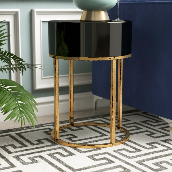 Broadmoor Curved End Table by Willa Arlo Interiors