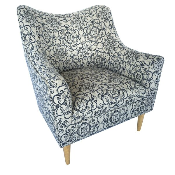 Medena Upholstered Shaped Back Armchair by Latitude Run