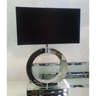 Best Deals Apollo Mirror Circle 27.6 Table Lamp By Orren Ellis