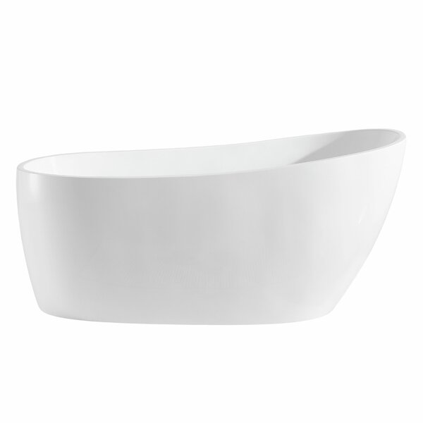 Covina 67 x 22 Freestanding Soaking Bathtub by Maykke