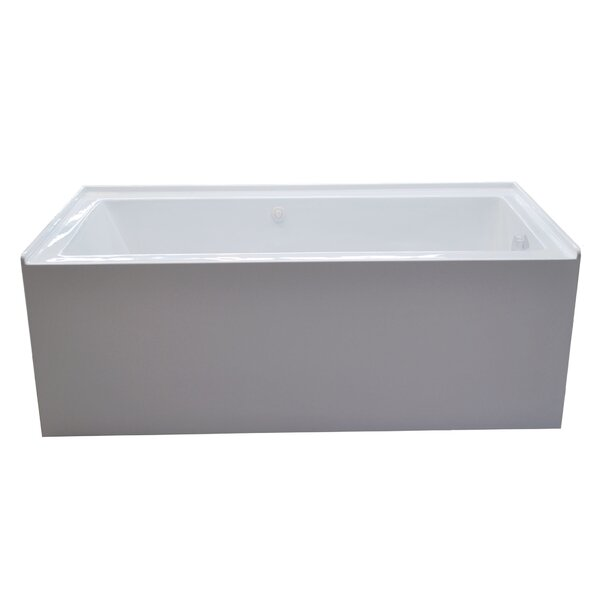 Castle 60 x 30 Front Skirted Air Massage Bathtub with Drain by Spa Escapes
