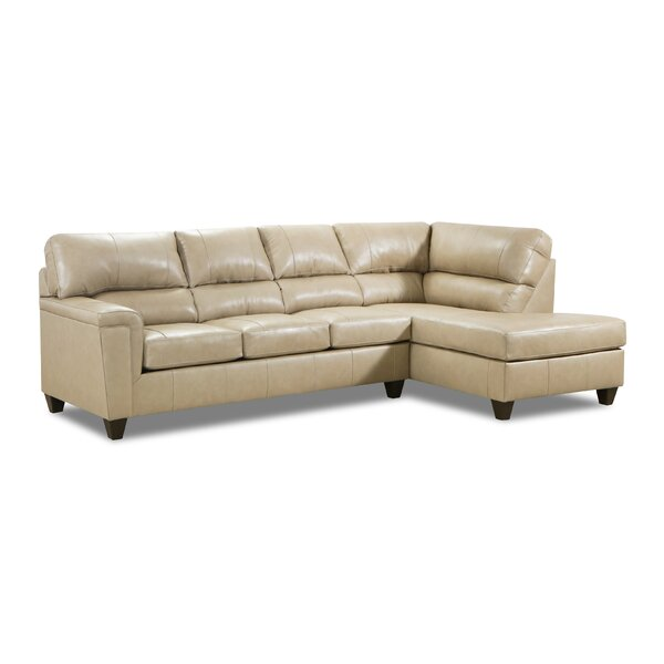Home & Outdoor Thy Leather 116'' Sectional