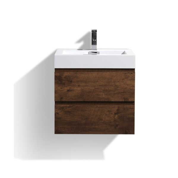 Sinope 24 Wall-Mounted Single Bathroom Vanity Set by Orren Ellis