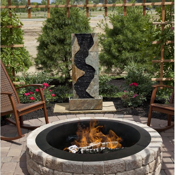 Solid Steel Fire Ring By Pleasant Hearth.