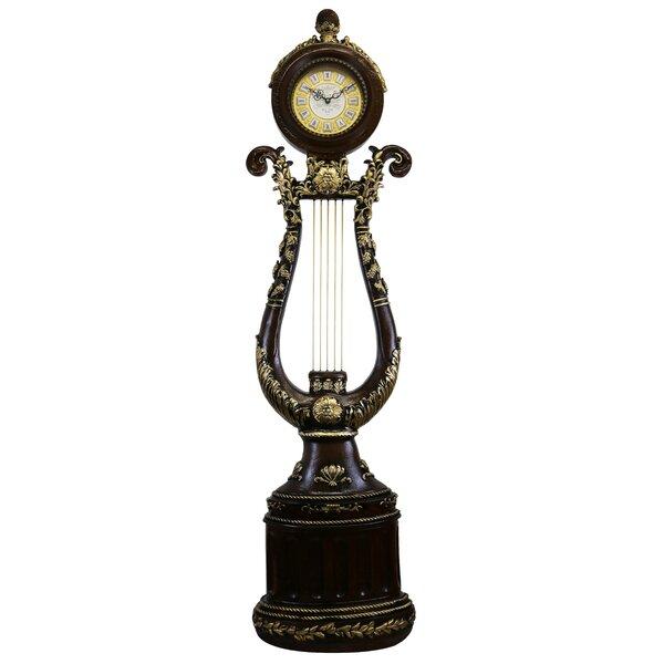 Elegant Harp Shaped 66 Floor Clock by Astoria Grand