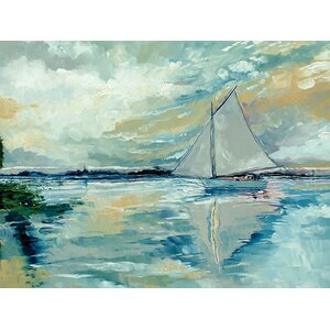 Boat on Broads Painting Print on Wrapped Canvas by Trent Austin Design