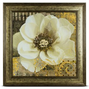 'White' Framed Painting Print by Crystal Art Gallery