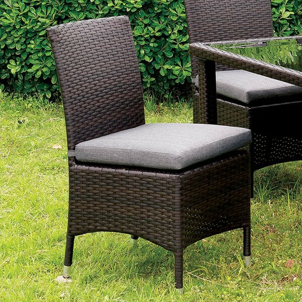 Mcknight Patio Dining Chair with Cushion by Gracie Oaks
