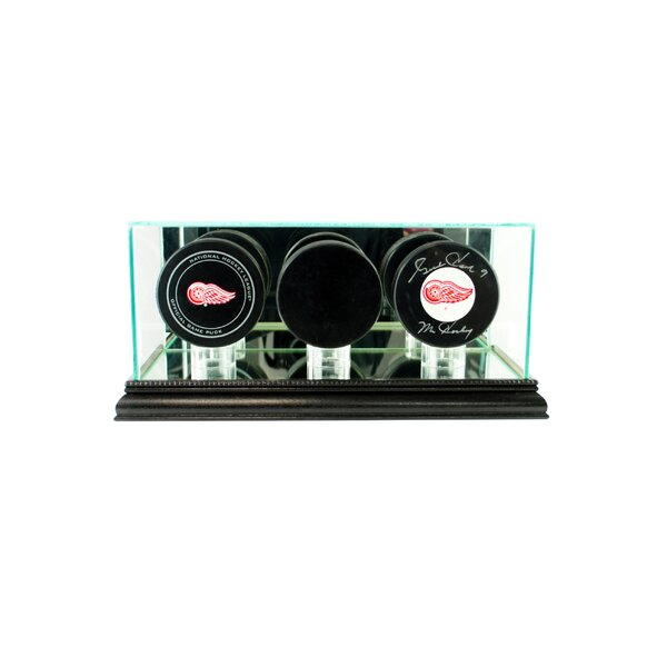 Triple Hockey Puck Display Case by Perfect Cases and Frames