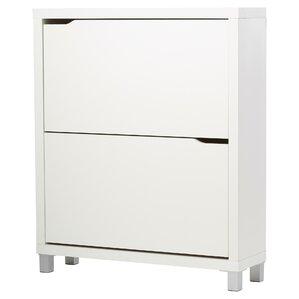 muoi 12pair white shoe storage cabinet