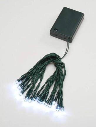 40 LED 4M Battery Cable Timer String Light by Perfect Holiday
