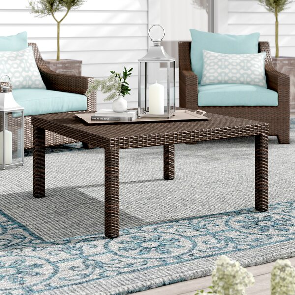 Northridge Rattan Side Table by Three Posts