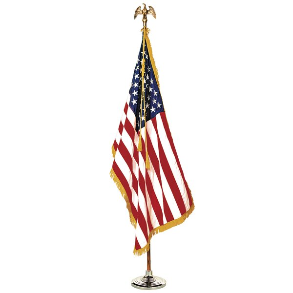 Annin Colonial Complete Mounted American 2-Sided Nylon 3 x 5 ft. Flag Set (Set of 6) by Elenco Electronics