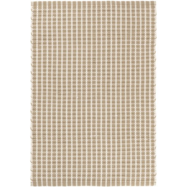 Gridiron Handwoven Flatweave Wheat Indoor/Outdoor Area Rug by Dash and Albert Rugs Dash and Albert Rugs