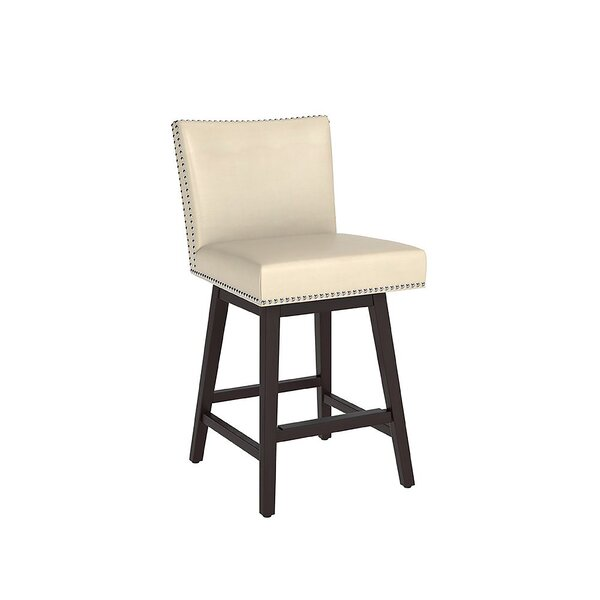 Ricka Bar & Counter Swivel Stool by Alcott Hill