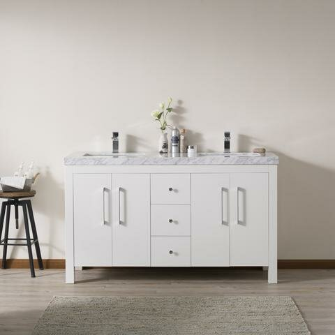 Cyra 60 Double Bathroom Vanity Set by Latitude Run