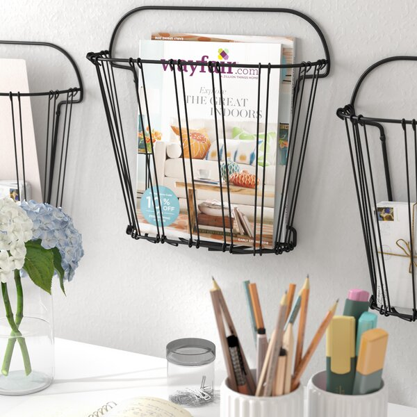 Artiaga Double Wire Wall Mount Magazine Rack by Lark Manor