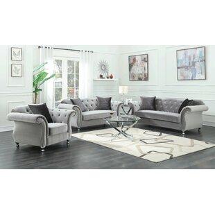 Bertie 3 Piece Living Room Set by House of Hampton®