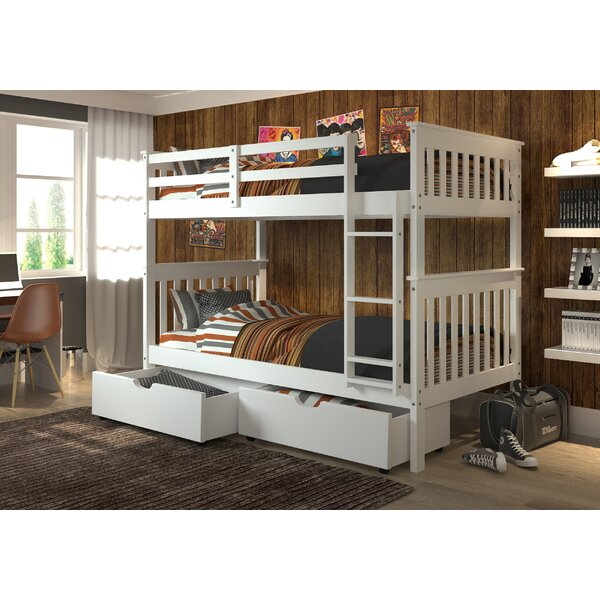 Dubbo Twin Over Twin Bunk Bed With Drawers By Harriet Bee by Harriet Bee Cheap