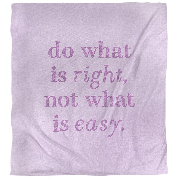Quotes Handwritten Do What Is Right Single Reversible Duvet Cover