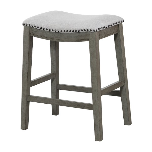 Clewiston Counter Saddle Stools (Set of 2) by Rosecliff Heights