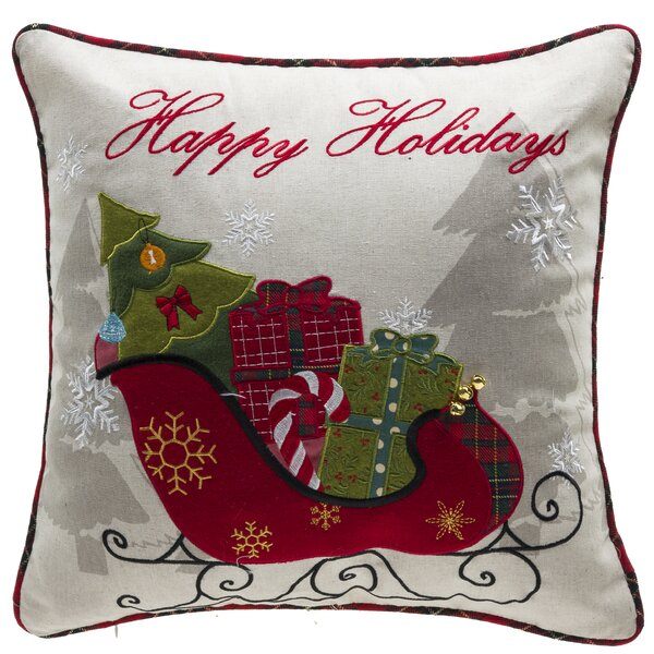 Holiday Gifts Throw Pillow by 14 Karat Home Inc.