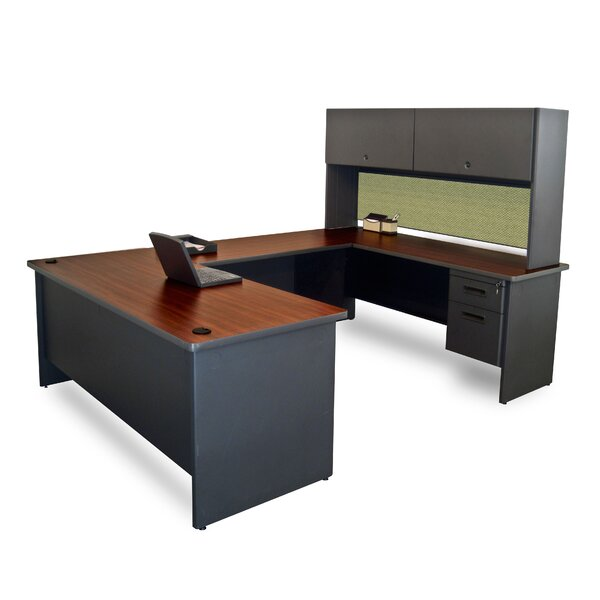 Pronto Executive Desk with Flipper Door Unit and Modesty Panel
