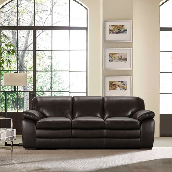 Shopping Web Talon Leather Sofa by Latitude Run by Latitude Run