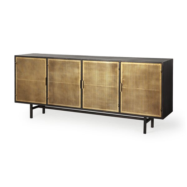 Matthias Newsome Metal 4 Door Cabinet by Everly Quinn