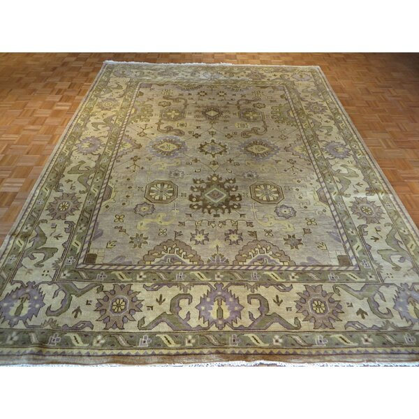 One-of-a-Kind Josephson Oushak Hand-Knotted Wool Beige Area Rug by Canora Grey