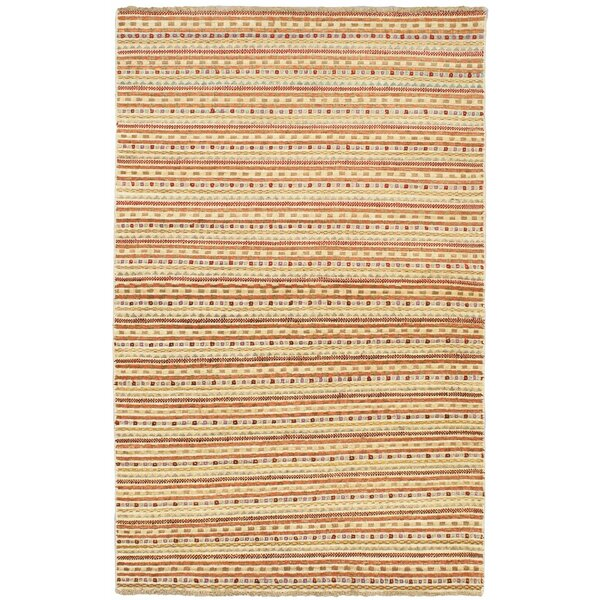 One-of-a-Kind Gaiser Hand-Knotted Wool Beige Area Rug by Bungalow Rose