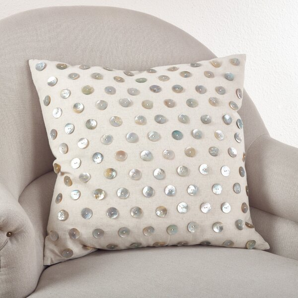 Chevron Cotton Throw Pillow by Saro