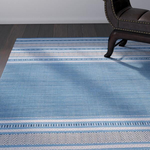 Bokara Hills Hand-Woven Blue/Gray Area Rug by World Menagerie