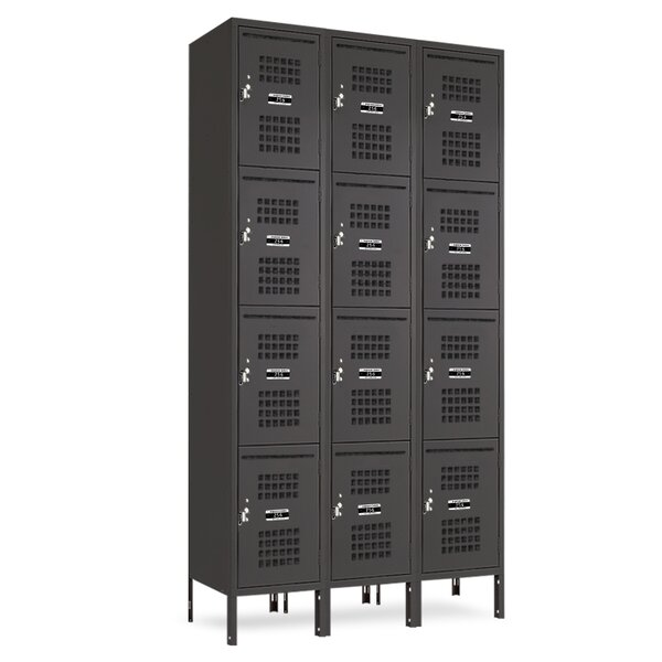 4 Tier 3 Wide Employee Locker by Jorgenson Lockers4 Tier 3 Wide Employee Locker by Jorgenson Lockers